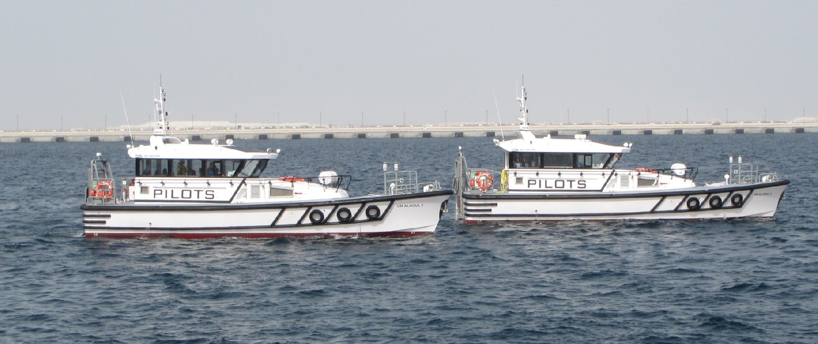 Five Vessels including two pilot boats delivered for Qatar's new Port Project