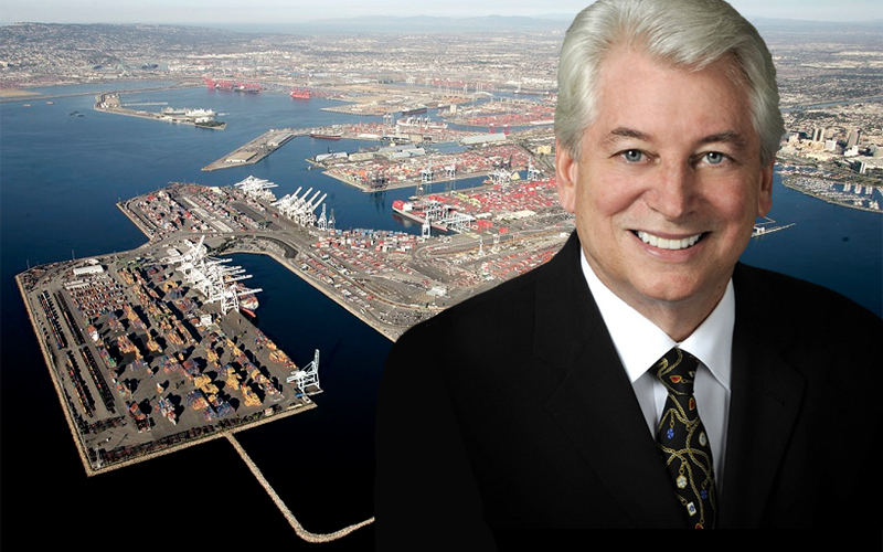 Slangerup's successor at Long Beach must cope with slowing world trade