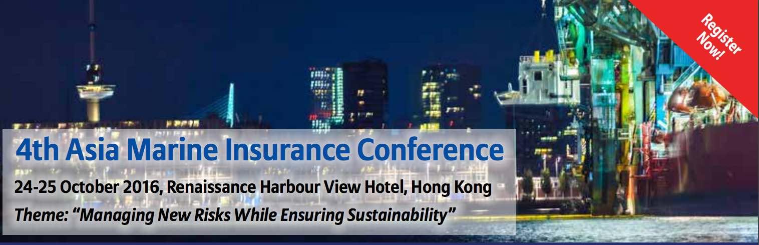 Hong Kong to hold Marine Insurance Conference October 24-25