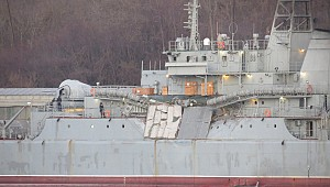 "Russian navy ship ""Yamal"" collided with cargo ship ""Orka 2"" in Aegean"