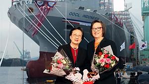 OOCL receives 21,413-TEU newbuild at Korea's Samsung Geoje shipyard