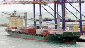 Containership Camilla arrested by order of the local High Court
