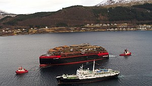 Kleven Yard floats out Roald Amundsen in Norway