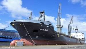 Diana berthed in Haifa