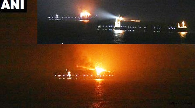 Four missing in 'serious fire' on board boxship Maersk Honam in the Arabian Sea