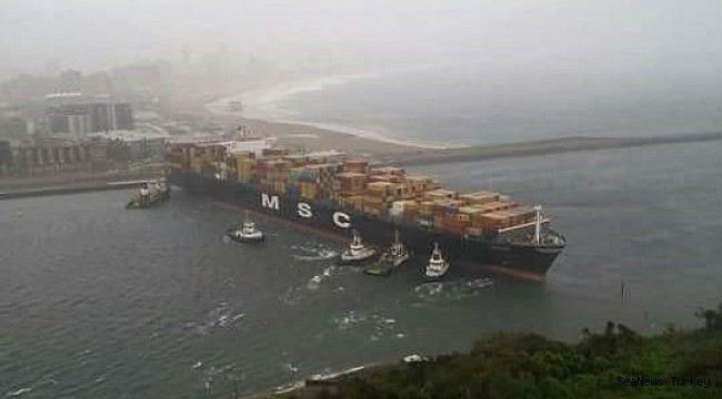 MSC Ines' waiting for spare parts to get repaired