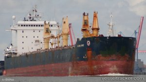 Bulkcarrier suffered ice damage