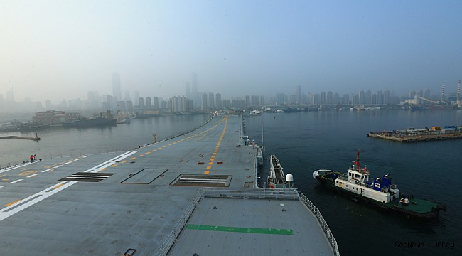 First home-made aircraft carrier of China makes nose-out