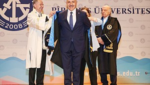 Minister Ahmet Arslan was given an honorary doctorate title
