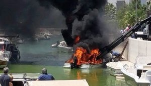 Boat burst into flames while launching