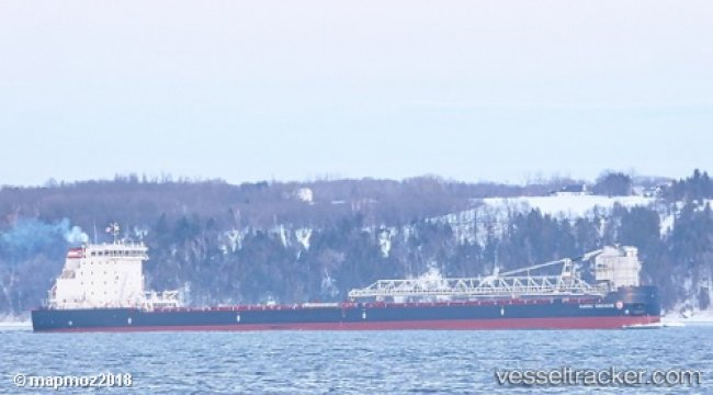 Bulkcarrier troubled on Lake Superior