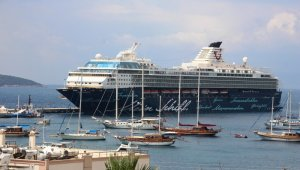 Cruise ship Mein Schiff-2 at Bodrum, Turkey