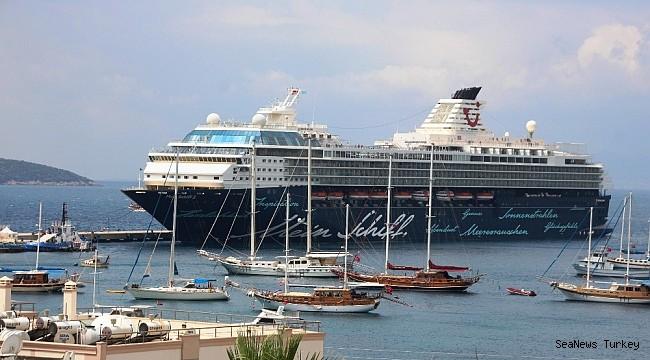 Cruise ship Mein Schiff-2 at Bodrum, Turkey