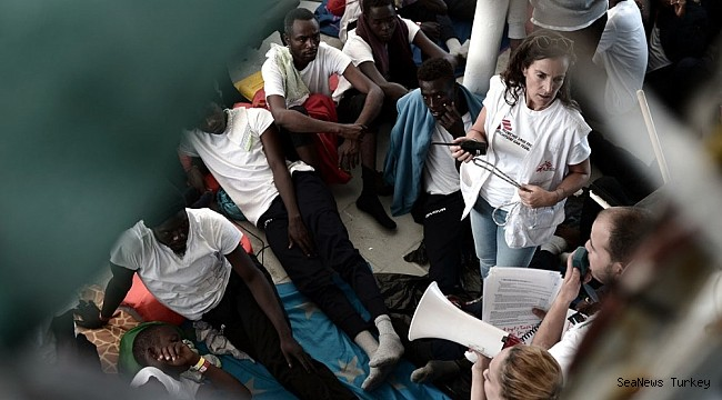 "MSF: ""629 refugees on the Aquarius should be immediately brought to the nearest port"""