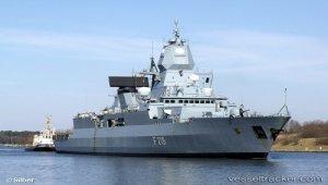 Damaged fregate back in Germany