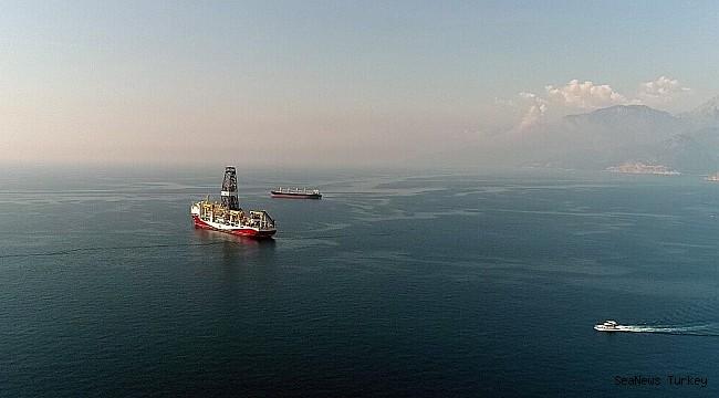 Turkey's first active drilling ship 'Fatih' in Mediterranean