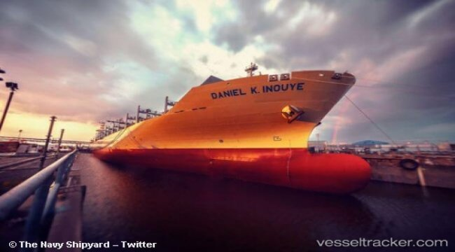 Matson Christens Largest Container Ship Ever Built In The U.S. 'Daniel K. Inouye'