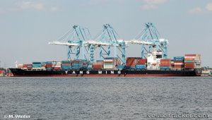First report: Container loss took only two minutes