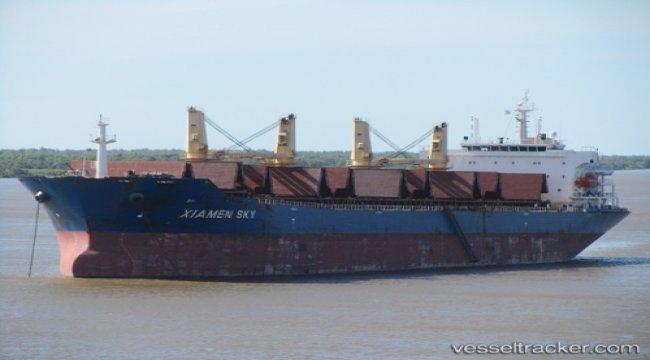 Arrested bulkcarrier released