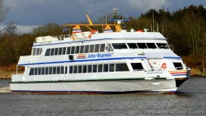 Ferry docked due to technical damage