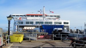 Fire on Solent ferry