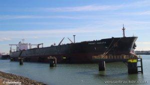 Tanker on fire off Japan