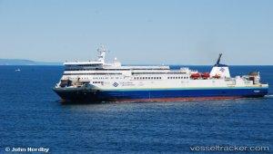 Ferry saved crew of burning fishing vessel