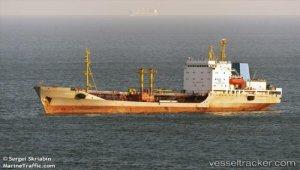 Tanker caught in collapsing dock