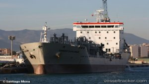 Cement carrier disabled, waiting for tug, Aegean sea
