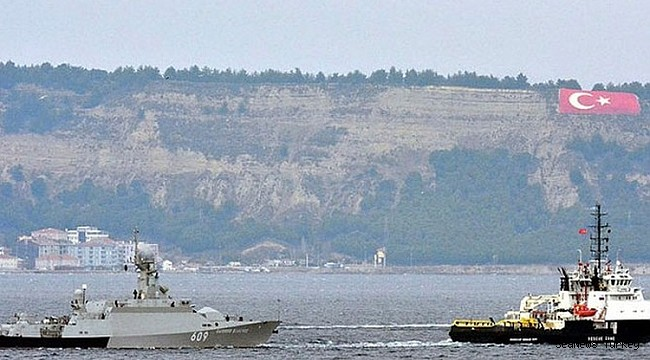 Brand new Russian Navy corvette VYSHNY VOLOCHEK towed through Çanakkale Strait