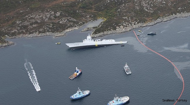Norwegian Frigate HNoMS Helge Ingstad collides with Maltese tanker Sola TS