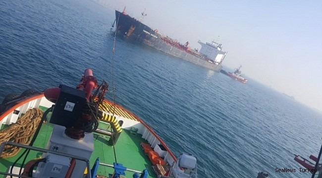Chemical tanker M/T Theresa Success aground off Yeşilköy, Turkey