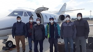 Bring the boys back home: Turkey's Sanmar Shipyards chartered a private jet to bring crew home