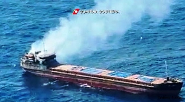 Turkish-owned ship rescued 12 seafarers from their ship on fire, M/V Bellatrix, in Mediterranean