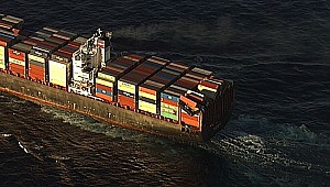Container ship APL England lost 40 containers in the rough seas!