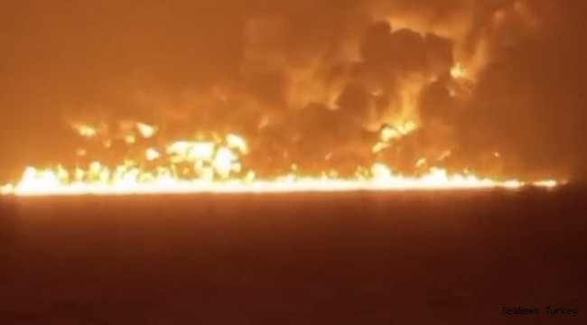 Two ships collided near Shanghai causing major fire, 14 missing (VİDEO)