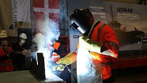 Steel cutting ceremony: Tug built by UZMAR for Aarhus Port!