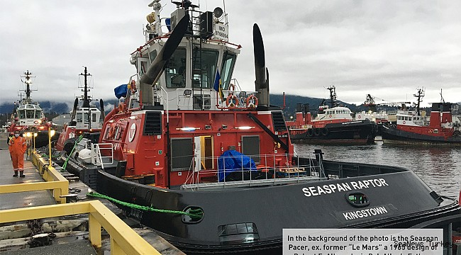 Seaspan Raptor, powerful state-of-the-art tug built by Turkey's Sanmar, arrives in Vancouver