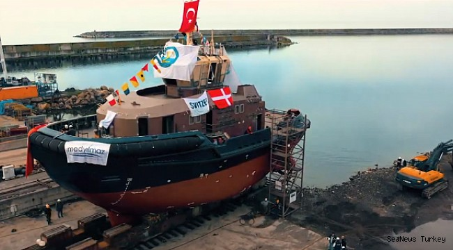 Med Marine successfully launched Svitzer's second tugboat!