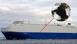 Car carrier suffers multiple explosions, claims point Iran!