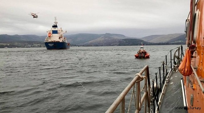 Troon and Arran RNLI lifeboats assist with medical evacuation from tanker!
