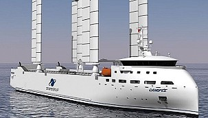 French pioneering company develops the world's first sail-powered container ship!