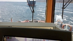 "Container ship ""Lider Halil"" emergency anchored during Çanakkale Strait passage"