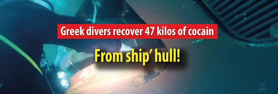 Greek divers recover 47 kilos of cocain in ship's hull! (Video)
