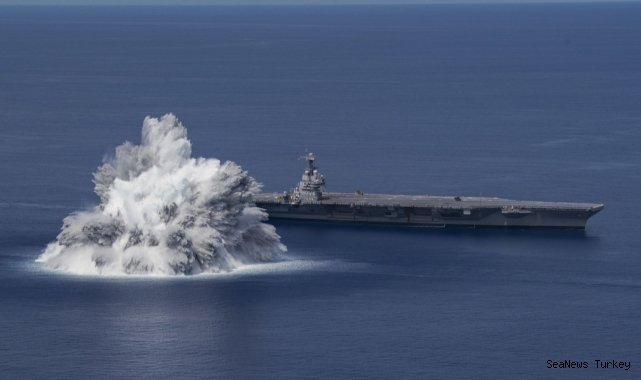 Carrier USS Ford Undergoes First Explosive Shock Trial