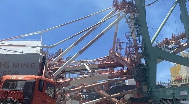 OOCL Durban crashes with gantry crane in Taiwan, 1 injured