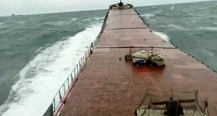 Shocking video from onboard M/V Arvin: Captain's mayday call in panic, while ship breaking in two