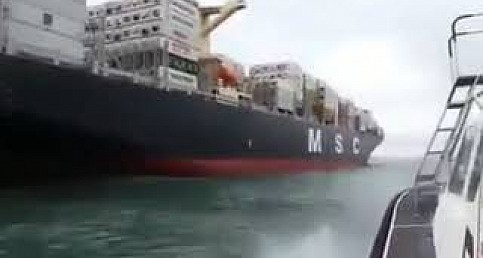 Merchant Marine , Lady Pilot boarding an MSC ship